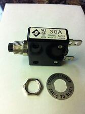 30 amp push to reset breaker 075207A A-0701 125/250V AC / DC  sang mao Generac