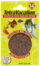 TETRA VACATION FEEDER 14 DAY FISH FOOD SLOW RELEASE. FREE SHIPPING IN THE USA