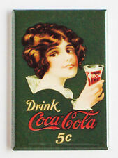 Drink Coca-Cola FRIDGE MAGNET (2 x 3 inches) soda sign coke pop cap bottle