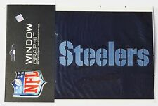 Pittsburgh Steelers Silver Chrome Window Graphic Decal NFL Football