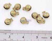 100PCS Collectibles 14mm*18mm Tibetan Brass Craft Tiger's Head Bells Feng Shui