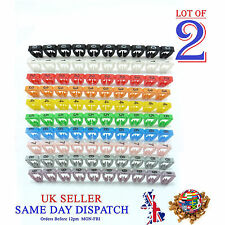200x Colourful Cable Markers C-Type Marker Number Label Tag 7mm