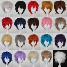 """20 colors 12"""" 30cm Short Straithrt wig Curly Cosplay Wig fashion hair"""