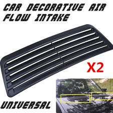 Universal 2pcs Car Decorative Air Flow Intake Scoop Turbo Bonnet Vent Cover Hood