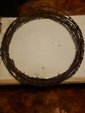 "VINTAGE BARB WIRE 14"" WREATH  or 26ft RUSTIC. WESTERN , LODGE, DECORATION."