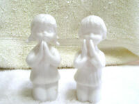 Vintage Set 2 SB Schmid Bros Figurines Boy and Girl Praying Made in Japan