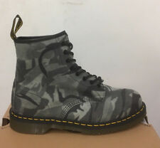DR. MARTENS 1460 GREY BRITISH LARGE CAMO SUEDE  BOOTS SIZE UK 3