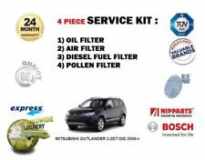 FOR MITSUBISHI OUTLANDER 2.0DT DID 2006-> SERVICE OIL AIR FUEL POLLEN FILTER KIT
