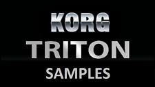 Korg Triton Samples 16 bit .wav Ethnic MPC Hip Hop House Dubstep DNB electro rap