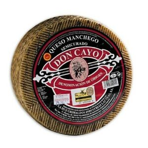 Don Cayo Semi-Cured  Manchego Cheese D.O.P.  I  -1 Kg Approx. -