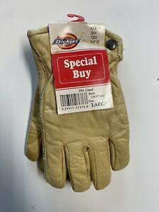 NOS Dickies Men's Pile Lined Cold Weather Leather Gloves Size Large New