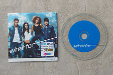 """CD AUDIO MUSIC / WHAT FOR """"PLUS HAUT"""" CD SINGLE 2T 2002 CARDSLEEVE"""