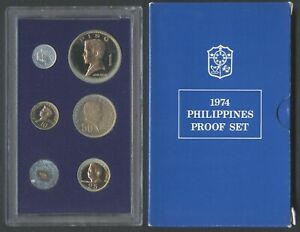 1974 Philippine PROOF Set Banko Sental / Pilipino Ser / Filipino Heroes Coin #B1