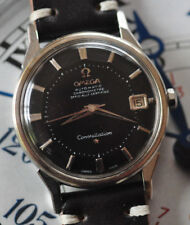 Vintage Omega Constellation RARE Black Pie Pan Watch Automatic Runs Looks Great!