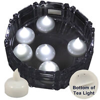 6 Flameless Floating LED tealight Candle Battery operated WHITE tea lights NEW