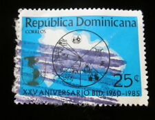 Republica Dominicana Correos 25 cent Stamp 1985 Posted Xxv Aniversaio Bid