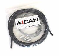 Aican Quality bicycle bike Road Brake cable housing set kit vs Jagwire, Black