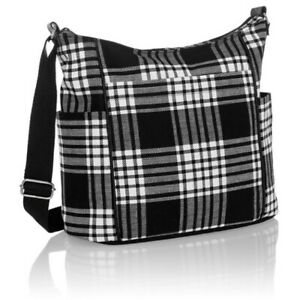 Thirty-One 31 Casual Carry All Purse in Perfectly Plaid Black New in Package