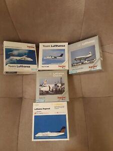 HERPA Miniaturmodelle,5 versch. Flugzeugmodelle Lufthansa , 1/500