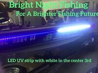 12 16 20 ft UV / White LED Strip Black Light Night Fishing Ultraviolet Boat 12v