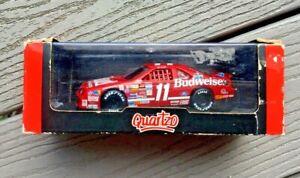 QUARTZO 1/43 NASCAR BILL ELLIOTT'S #11 BUDWEISER CAR IN DISPLAY CASE # 2011 NIB