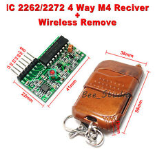 4 CH Channel Key 315Mhz RF Wireless Remote Control Module Transmitter + Receiver