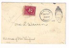 1919 Honolulu Hawaii,Kindness of Miss Winifred Postage Due