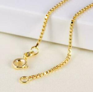"""9ct 9K Yellow """"Gold Filled"""" Ladies Mens Boxed link Chain Necklace 20"""",24"""""""