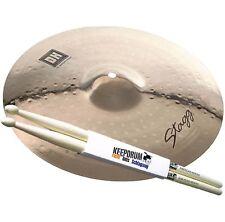 "Stagg DH-CM14B Medium Crash 14 "" Cymbales + Keepdrum Baguettes 1 Paire"