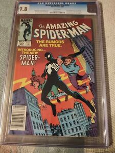 AMAZING SPIDER-MAN 252 CGC 9.8!!!!! 1ST BLACK COSTUME!!!   Sweet!!!!