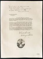1926 - Litografia citazione il cardinale Gibbons, Cardinal O'Connel