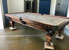 Unique American Billiard Table Made for 1873 Chicago Interstate Exposition