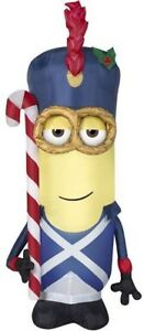Gemmy Despicable Me Vive le Minion Soldier 3.5' Airblown Inflatable Christmas