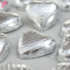 Foil Wrapped Milk Chocolate Hearts Table Favours Weddings Party Sweets