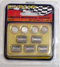 Pinewood Derby Pine Car TUNGSTEN INCREMENTAL CYLINDER WEIGHTS 3 oz P3915