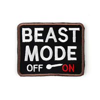 Beast Mode On Army USA Military Morale Tactical Combat Badge Swat Hook Patch T5