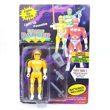 Vintage 1994 Soma Light Up Eyes Yellow Sonic Ranger Action Figure