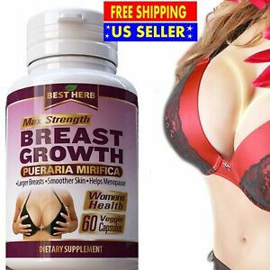 60 STRONG PUERARIA MIRIFICA BREAST GROWTH CAPSULES BUST ENLARGEMENT PILLS 5000mg