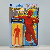 """Hasbro Marvel Legends Kenner - Human Torch 3.75"""" [Retro] Action Figure on Card"""