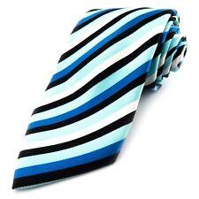 STAFFORD Blue White Striped American Mens Tie