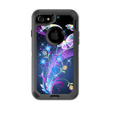 Skin Decal for Otterbox Defender iPhone 7 Case / glowing butterflies in flight