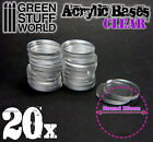 20x Acrylic Bases - Round 25mm CLEAR - Thickness 3mm Basing Wargames Miniatures