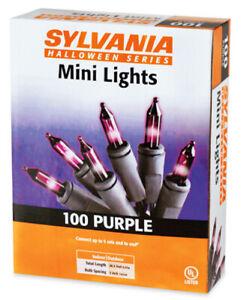 Sylvania 100 Count Purple Halloween Lights; Black Wire, Ships Next Day