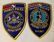 Southeastern Pennsylvania Transportation Authority Department K9 Police Patches