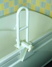Locking Bathtub Grab Bar Lock to Tub Side for Safety No Tools Clamp-On Tub Bar