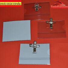 funda acreditacion porta carnet tarjeta plastico identificacion con pinza 9*6cm
