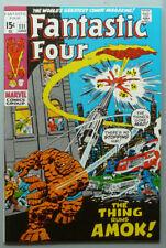 Fantastic Four # 111  The Thing runs Amok !  grade 9.0 scarce book !