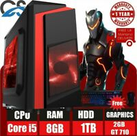 ULTRA FAST Gaming PC Intel Core i5 8GB RAM 1TB 2GB GeForce GT710 Windows 10