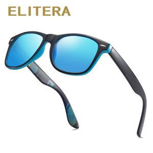 ELITERA  Polarized Sunglasses Men Women Classic Square Plastic Driving Sun Glass