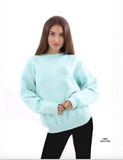 Women Sweater Nantucket  Fleece Sweatshirt Elegant & Soft Col Sea foam